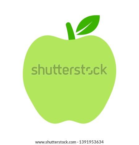 Apple. Vector illustration. green apple on white background