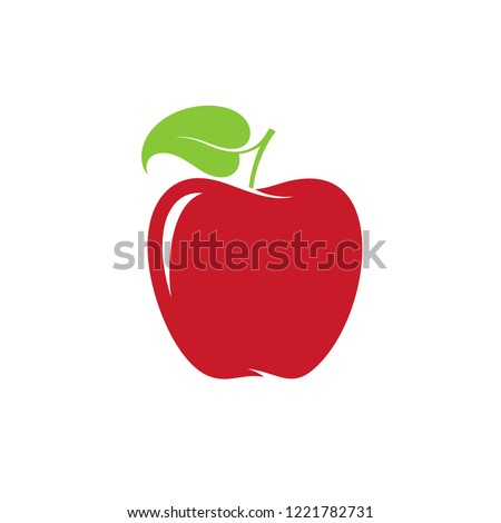 apple vector illustration red