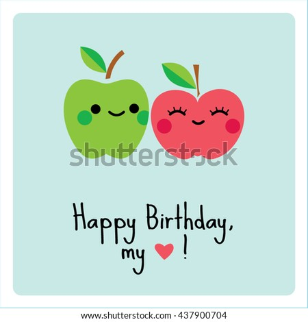 apples couple happy birthday