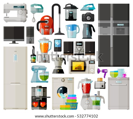 appliances set icons