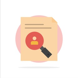 Application, Clipboard, Curriculum, Cv, Resume, Staff Abstract Circle Background Flat color Icon