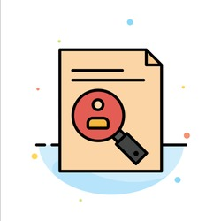 Application, Clipboard, Curriculum, Cv, Resume, Staff Abstract Flat Color Icon Template