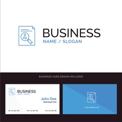 Application, Clipboard, Curriculum, Cv, Resume, Staff Blue Business logo and Business Card Template. Front and Back Design. Vector Icon Template background