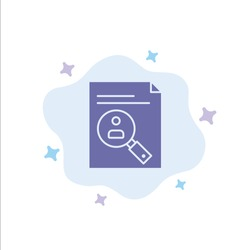 Application, Clipboard, Curriculum, Cv, Resume, Staff Blue Icon on Abstract Cloud Background