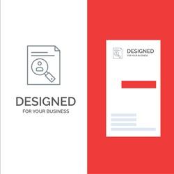 Application, Clipboard, Curriculum, Cv, Resume, Staff Grey Logo Design and Business Card Template