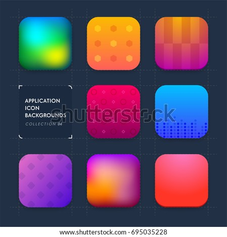 Application icon backgrounds. Set 04
