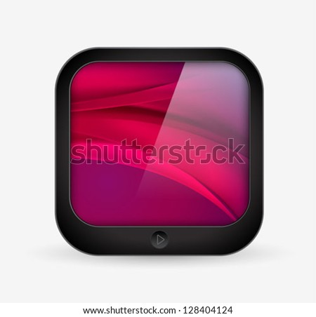application icon - mobile tablet computer shape - vector