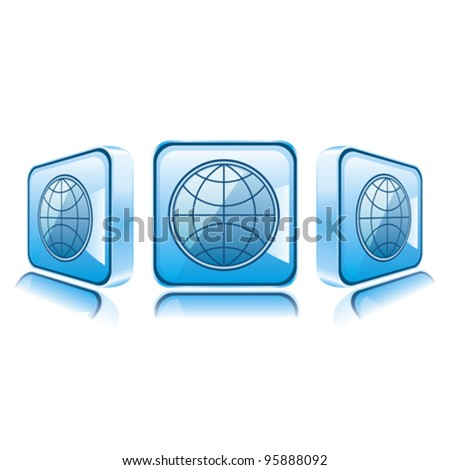 Application icons for Smart Phone isolated on white background. Internet