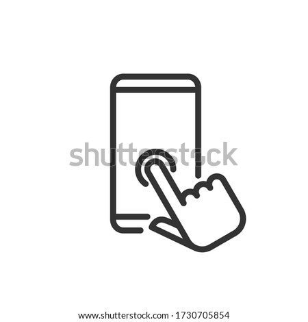 Application line icon. Vector Illustration. Stock fotó ©