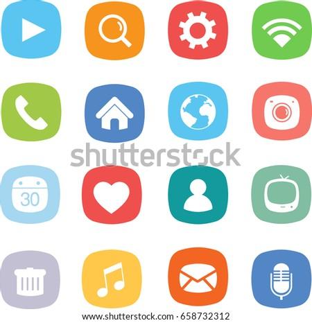 Application mobile icon set