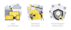 Application service abstract concept vector illustrations.