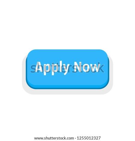 apply now blue cartoon button