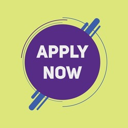 apply now button. web template apply now