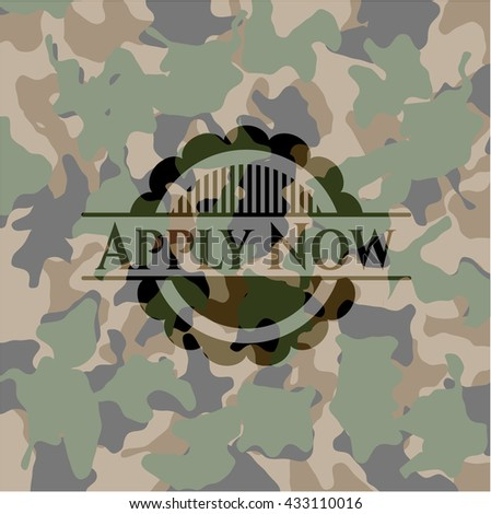 Apply Now camo emblem