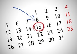 Appointment in a generic calendar for marking an important date. Appoint. Business