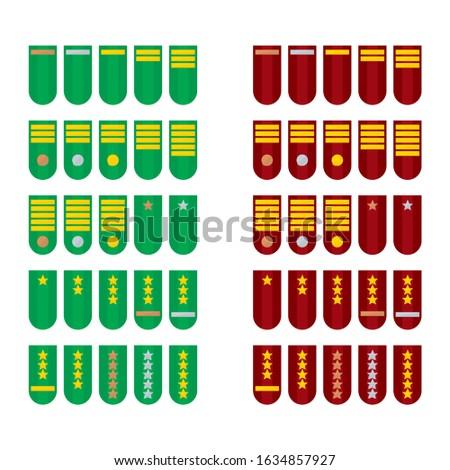 Appreciation badge insignia icons level military rank