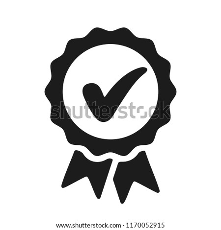 Approval check icon, quality sign – stock vector Stock photo ©