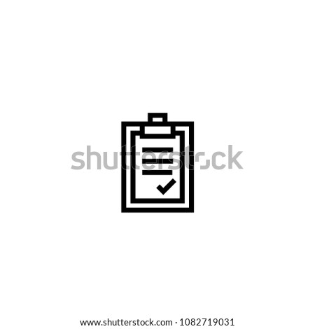 approval letter. paper board with agreement content symbol. simple clean thin outline style design. #1082719031