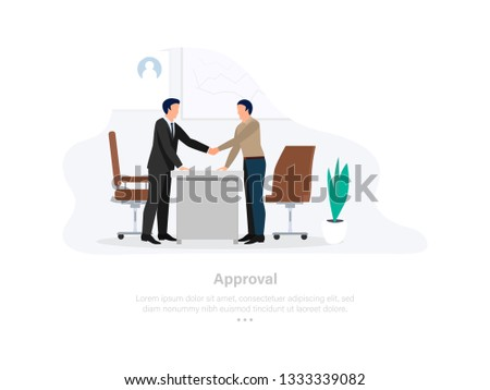 Approval Session New Employee . Employee Concept. 3d Isometric Vector Illustration.