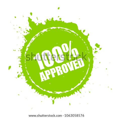 Approved blot stamp illustration isolated on white background
