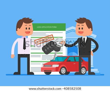 approved car loan vector