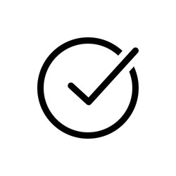 approved icon vector