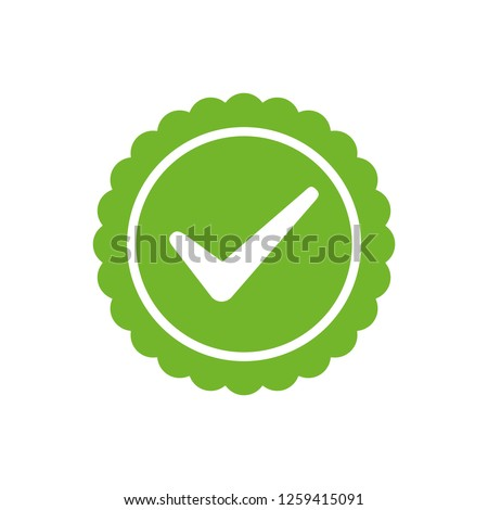 Approved or Certified Medal Icon. Approved certified icon. Certified seal icon