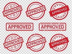 approved rubber stamp set