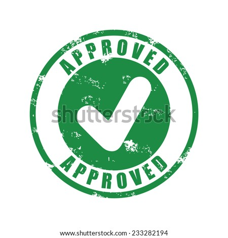 Approved rubber stamp, vector illustration