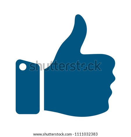 approved sign - hand thumb up icon - vector like, social media symbol