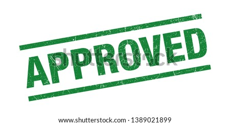 Approved Stamp Seal Green Grunge Symbol Vector Stock photo ©