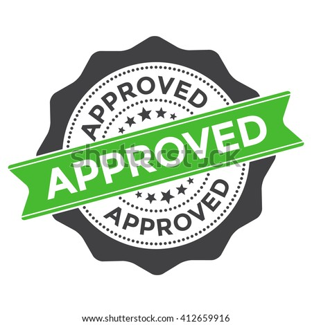 Approved Stamp Vector Over a White Background