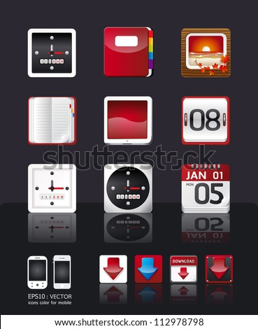 apps icon set vector/tablet & mobile phone apps