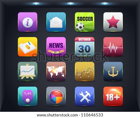 Apps Icon Vector Design 01