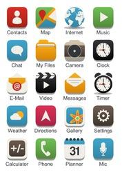 Apps vector icon set