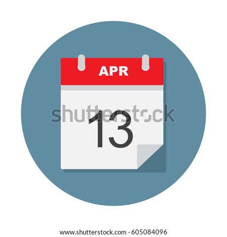 apr 13 calendar icon vector
