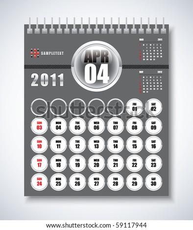 april calendar. April - Calendar Design