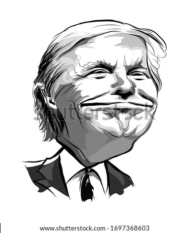 april 2020  caricature of