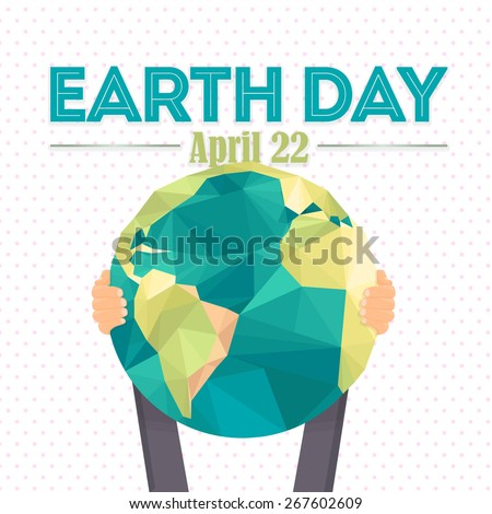 april 22 earth day lettering