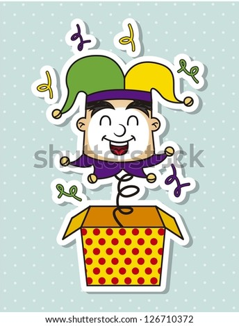 april foods day illustration with jester . vector background