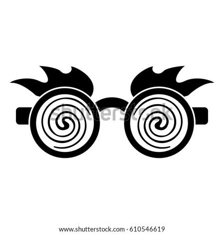 april fools  day crazy glasses pictogram