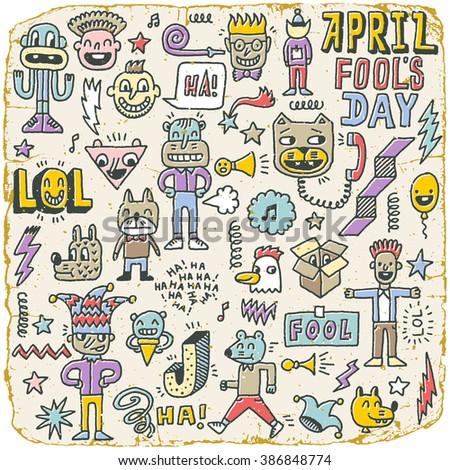 april fools day funny doodle