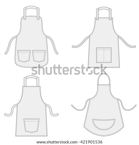 aprons with outsets and pockets ...