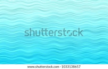 Aqua Blue Wavy Stripes Vector Background. Turquoise Gradient Ocean Waves Texture. Sea Horizon Backdrop. Curly Hatching Strokes Surface.