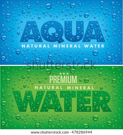 aqua natural mineral water background with fresh water drops