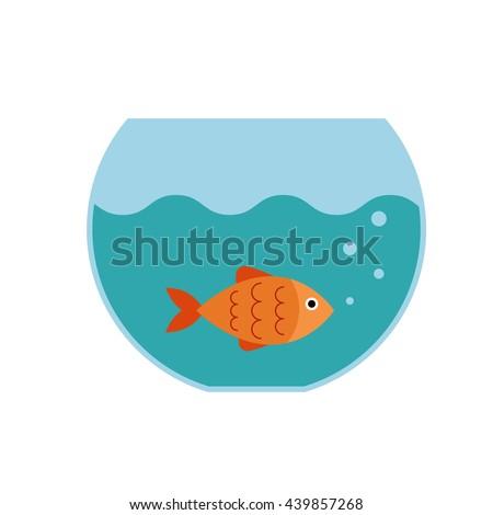 aquarium fish  flat icon