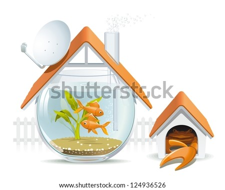 aquarium home with a guard