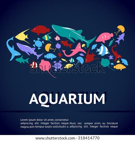 aquarium infographic banner