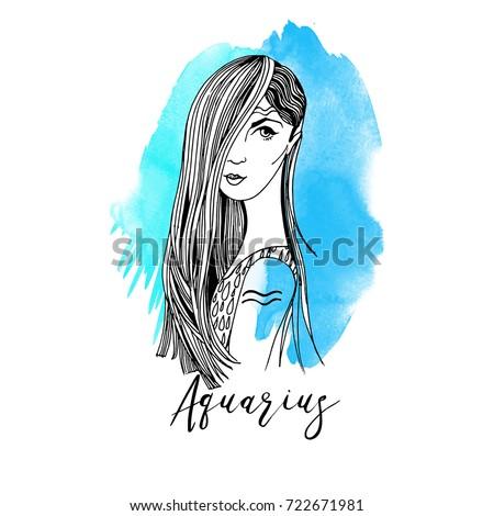Aquarius. Zodiac signs girl
