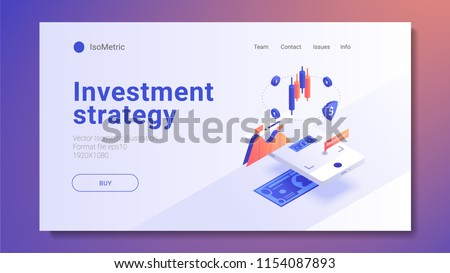 AR Concept business strategy. growth statistics. Success in the business. 3d isometric design. Vector illustration. X Reality, XR, Cross Reality, mixed reality, xr technologies